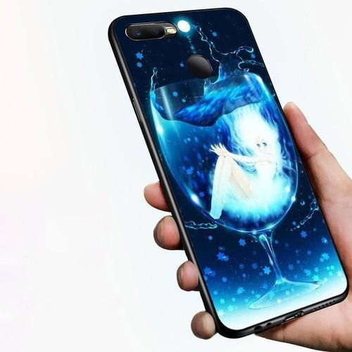 Ốp lưng điện thoại Oppo A7 2018 - Cô Bé Trong Chiếc Lọ Thủy MS CBTCL038