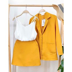 Bộ set áo khoác vest, blazer và chân váy