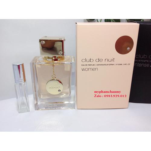 [ chiết 10ml ] nước hoa armaf club de nuit woman - mẫu thử 10ml