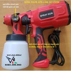 Máy phun sơn điện cầm tay mini 550w- súng phun sơn điện- hàng loại 1