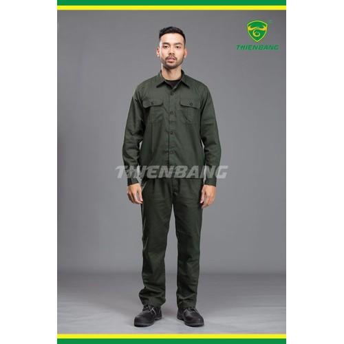 Quần áo bảo hộ xanh rêu