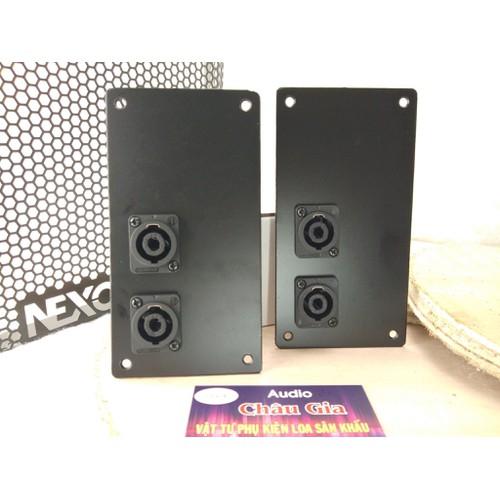 Trạm loa bằng sắt  8 x 15cm  - hậu loa  – 2 cái- audio chau gia