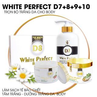 Bộ dưỡng da toàn thân Top White D7+D8+D9+D10 giúp làm sạch tế bào chết, dưỡng trắng da body hiệu quả - D7+D8+D9+D10 thumbnail