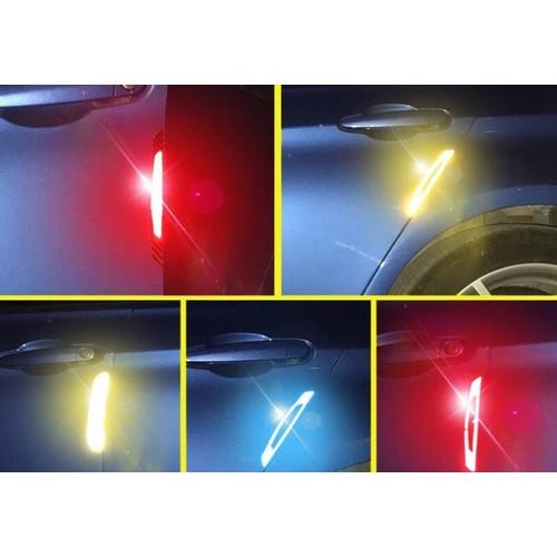 6 miếng dán chống xước cửa, gương xe ô tô phản quang