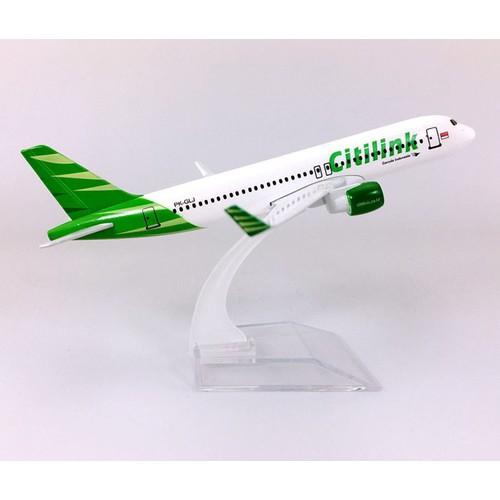 Mô hình máy bay tĩnh a320 citilink airlines 16cm