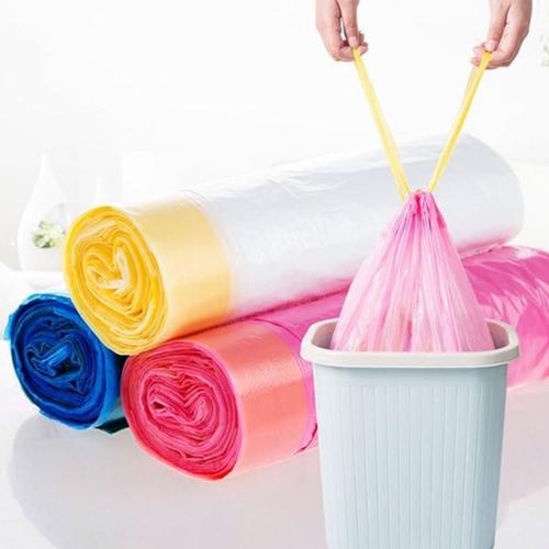 Cuộn túi đựng rác có dây rút