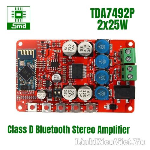 Module khuếch đại âm thanh tda7492p bluetooth 25wx2