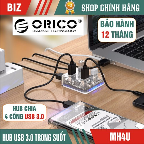 Hub chia 4 cổng usb 3.0 orico mh4u trong suốt - hàng chính hãng - 12154123 , 21280238 , 15_21280238 , 289000 , Hub-chia-4-cong-usb-3.0-orico-mh4u-trong-suot-hang-chinh-hang-15_21280238 , sendo.vn , Hub chia 4 cổng usb 3.0 orico mh4u trong suốt - hàng chính hãng