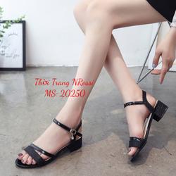 Giày cao gót nữ big size - giày cao gót size lớn 40 41 42 43 quai kim tuyến hở hậu NRossi