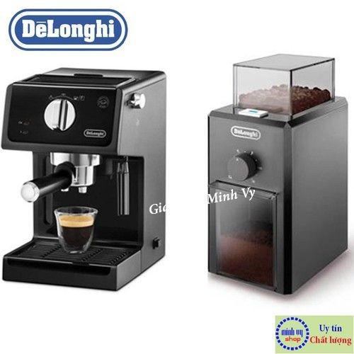 Combo delonghi máy pha cà phê ecp31.21 + máy xay cà phê kg79 chính hãng
