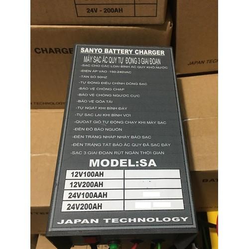 Nạp ắc quy tự ngắt sanyo 24v200ah dùng cho xe nâng
