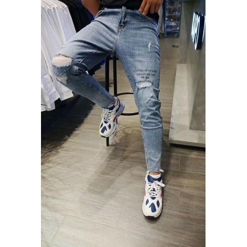 Quần jeans nam rách cá tính