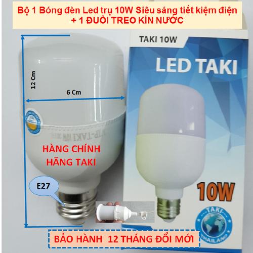Bóng Led trụ 10W Siêu sáng tiết kiệm điện + ĐUÔI KÍN NƯỚC