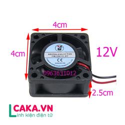 Quạt tản nhiệt 12V 4x4x2.5