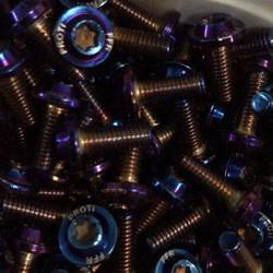 Combo 50 ốc Proti 6 ly M6 20 ốc màu titan