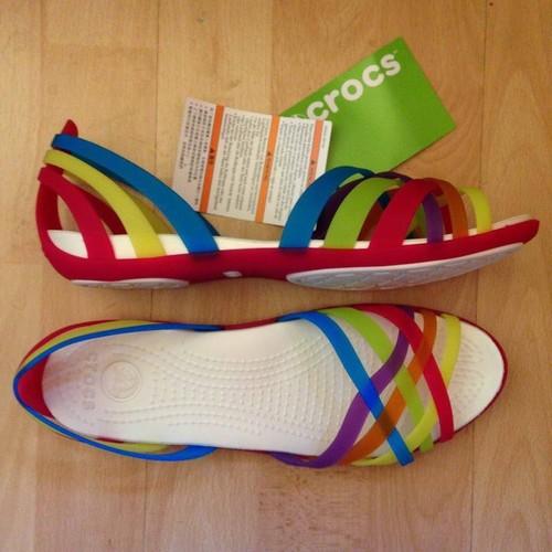 Sandal croc-huarache xuất khẩu màu đỏ