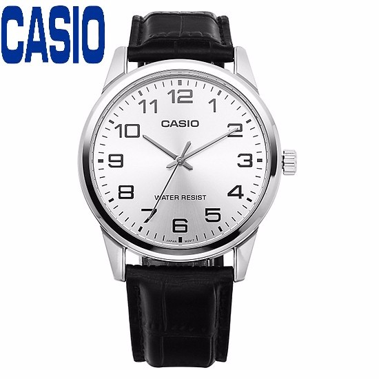 Đồng hồ nam CASIO MTP-V001L-7BUDF kính khoáng dây da đen - MTP-V001L-7BUDF