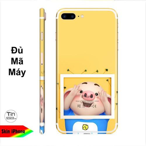 Miếng dán skin hình heo con dễ thương [mã: heo2k19-096] cho iphone