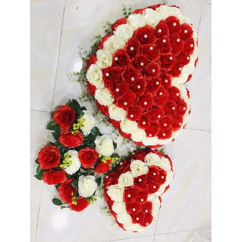 Bộ hoa giả trang trí xe hơi rước dâu