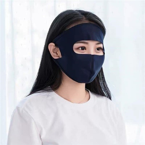 Khẩu trang ninja chống nắng heinler facemask fm01 - màu đen