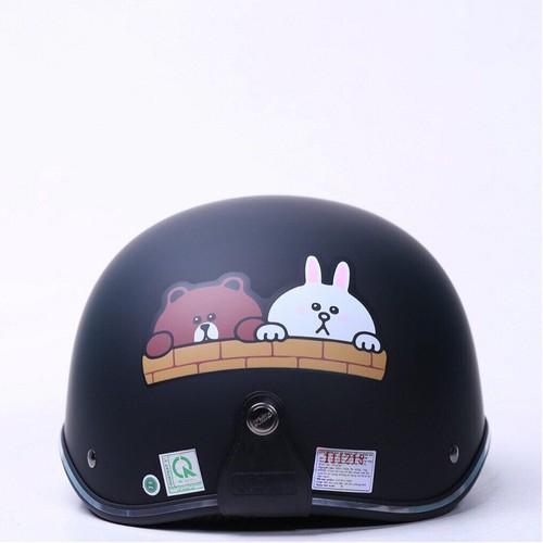 Mũ bảo hiểm chita ct6b1 tem brown và cony