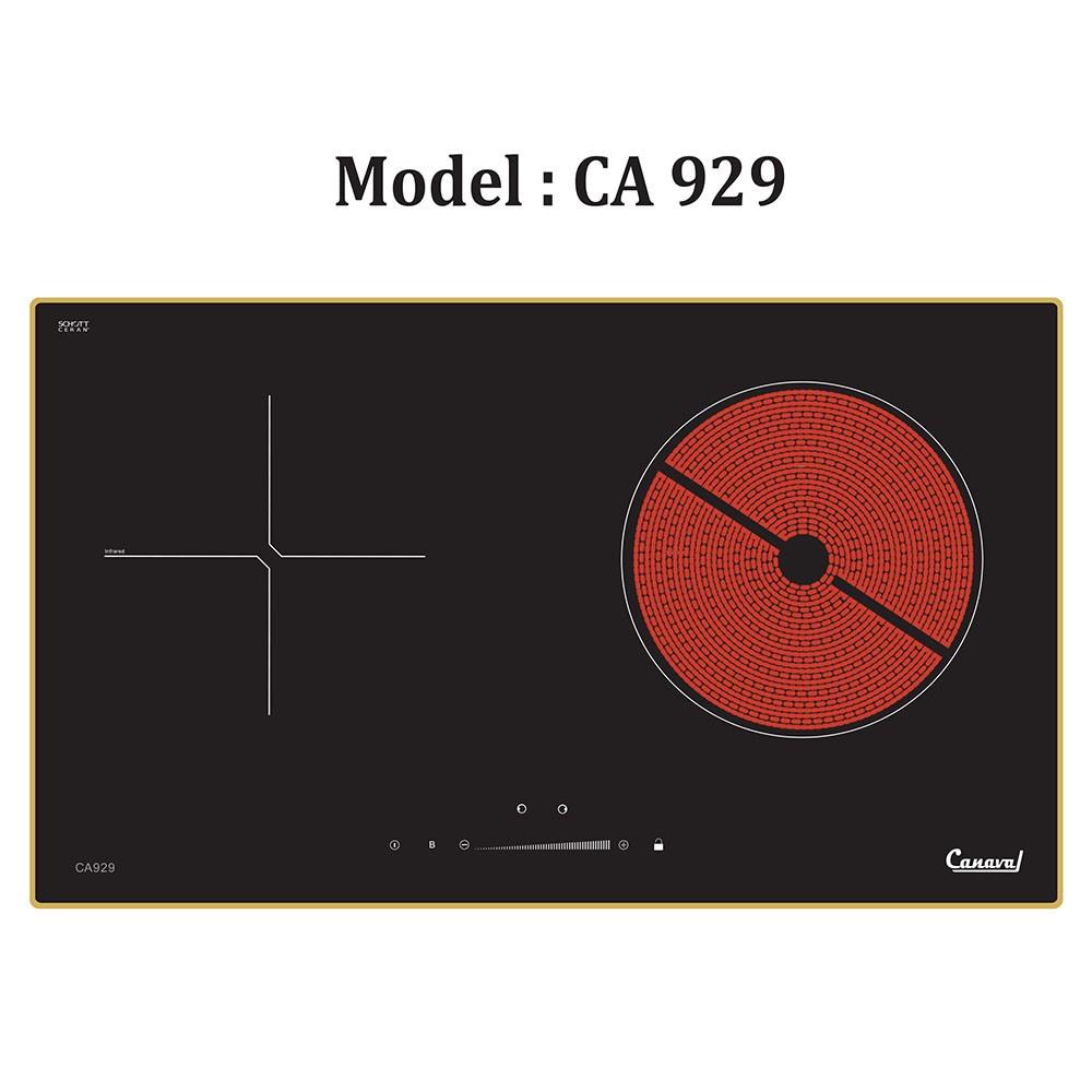 Bếp âm, bếp điện từ + hồng ngoại đôi Canaval CA-929 công nghệ Inverter tiết kiệm điện