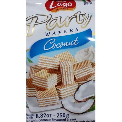 Bánh Xốp Lago Vị Dừa Party Coconut  gói 250gr