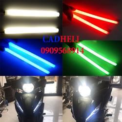 Đèn daylight xe máy audi silicon 2 dây 15cm