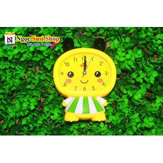 Đồng Hồ Để Bàn Báo Thức Hình Bé Ong Rất Cute Chiều Cao 16cm + Tặng Pin - Đồng Hồ Hình Bé Ong thumbnail