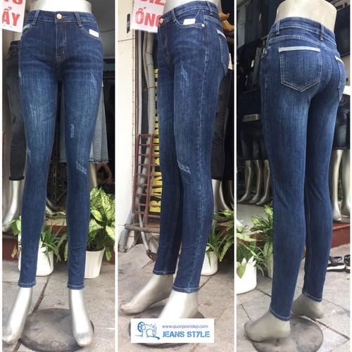 Quần jean nữ dài dáng skinny, cạp cao, mài xước nhẹ - 12623331 , 20469670 , 15_20469670 , 350000 , Quan-jean-nu-dai-dang-skinny-cap-cao-mai-xuoc-nhe-15_20469670 , sendo.vn , Quần jean nữ dài dáng skinny, cạp cao, mài xước nhẹ