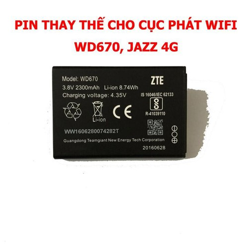 Pin gắn trong bộ phát wifi zte wd670 - 13218739 , 21327733 , 15_21327733 , 305000 , Pin-gan-trong-bo-phat-wifi-zte-wd670-15_21327733 , sendo.vn , Pin gắn trong bộ phát wifi zte wd670