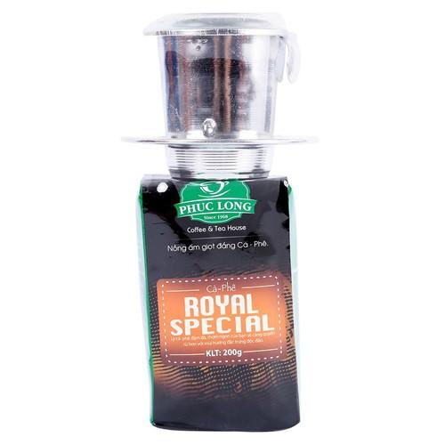 Cà phê roya special phúc long 200g kèm phin