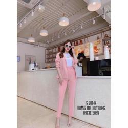 Set bộ vest quần dài pink girl
