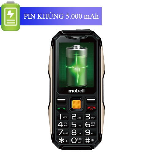 Điện thoại Mobell Rock 3 - Pin Trâu - Loa To - Sạc cho máy khác - mobell-rock-3-moi