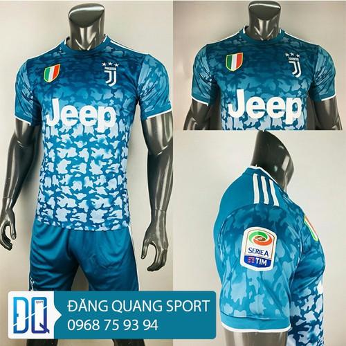 Bộ quần áo đá bóng juventuss xanh 2019 - 2020