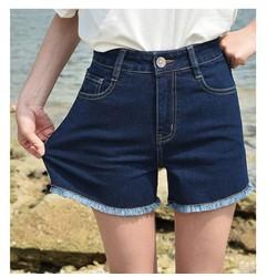 Quần short nữ ngang gối Quần đùi nữ chất bò jean