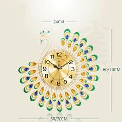 Đồng hồ treo tường hình con công sang trọng