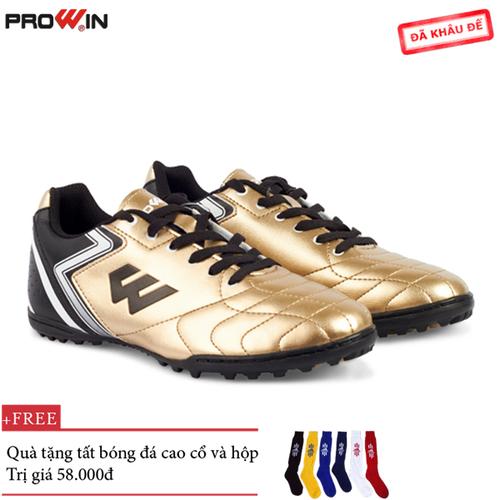 Giày đá bóng prowin fx gold - tặng kèm tất bóng đá cao cổ - fx.gold