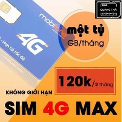 Nạp sẵn 120k SIM 4G MOBIFONE F120WF MAX Data, KHÔNG GIỚI HẠN DUNG LƯỢNG - SIM MOBI 4G