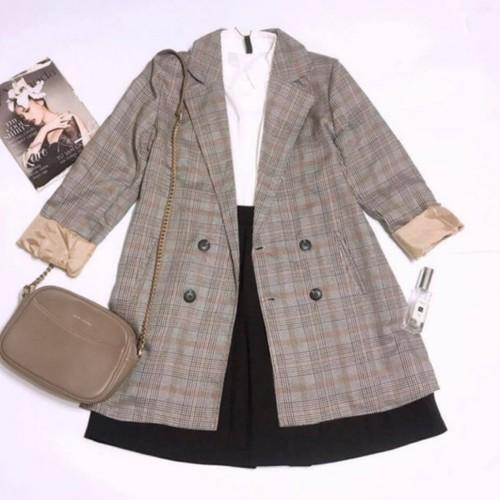 Áo khoác vest nữ dáng dài- vnxk
