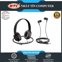 Bộ đôi tai nghe chụp tai và nhét tai có dây Hoco W24 Enlighten âm thanh cực hay - Hãng phân phối chính thức