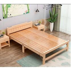 Giường gỗ thông xếp gọn - Giường gấp gọn - Giường gấp đa năng - Giường gấp tiện lợi