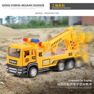 Xe mô hình - combo 4 xe mô hình xe công trình - Mô hình xe cần cẩu xe cứu hộ xe bồn và xe ben - MNCB4X thumbnail