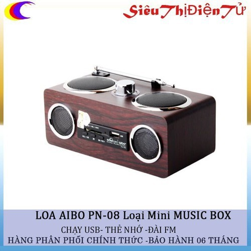 Loa mini aibo pn-08 music box - pn-08 - 17482876 , 21347975 , 15_21347975 , 400000 , Loa-mini-aibo-pn-08-music-box-pn-08-15_21347975 , sendo.vn , Loa mini aibo pn-08 music box - pn-08