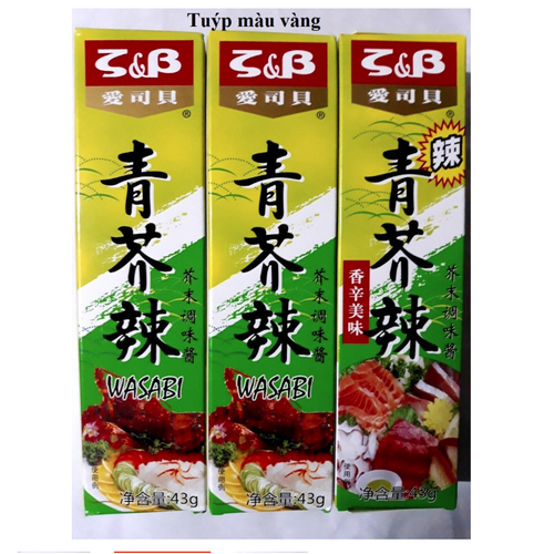 Mù tạt wasabi vàng s&b tuýp 43g