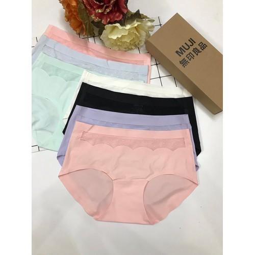 Combo 10 quần lót nữ-- combo 10 quần lót đúc su phối ren - ql 008
