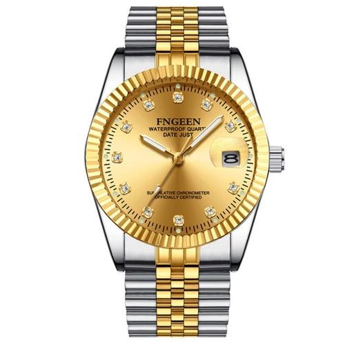 Đồng hồ nam thời trang fngeen dây thép không gỉ 3 kim 1 lịch thanh lịch - fng12