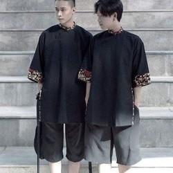Set áo gấm shanghai và quần culottes