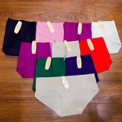 [Ảnh shop tự chụp] Combo 10 quần lót nữ su không đường may TinTin888