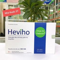 Heviho dành cho viêm họng cấp và mạn tính, giúp giảm đau rát họng, giảm ho, long đờm.